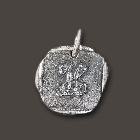 "Baby ""H"" Initial Charm by Waxing Poetic"