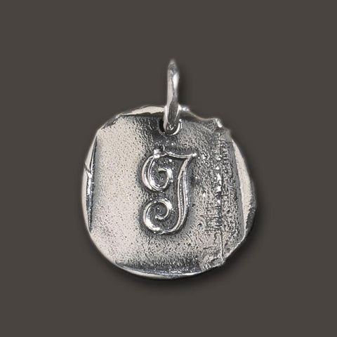 "Baby ""J"" Initial Charm by Waxing Poetic"