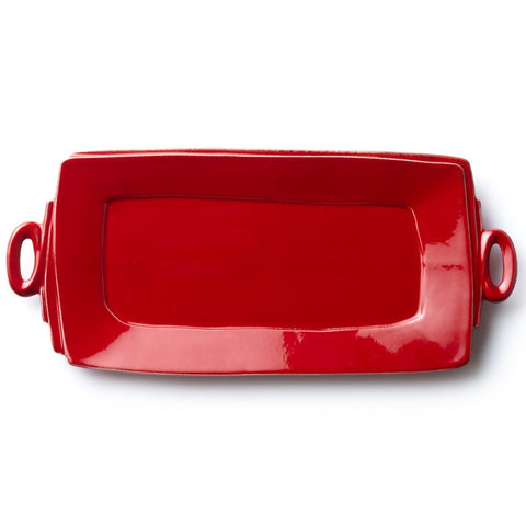 Lastra Red Handled Rectangular Tray