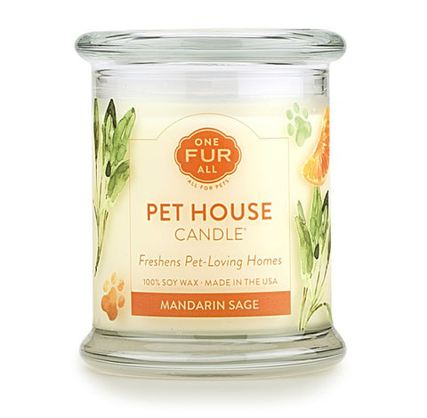 Pet House Candle - Mandarin Sage