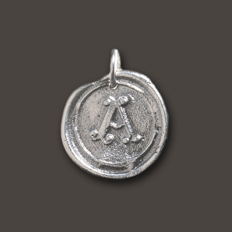 "Round Insignia Charm ""A"" by Waxing Poetic"