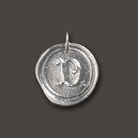 "Round Insignia Charm ""D"" by Waxing Poetic"