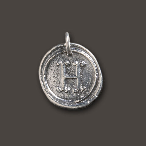 "Round Insignia Charm ""H"" by Waxing Poetic"
