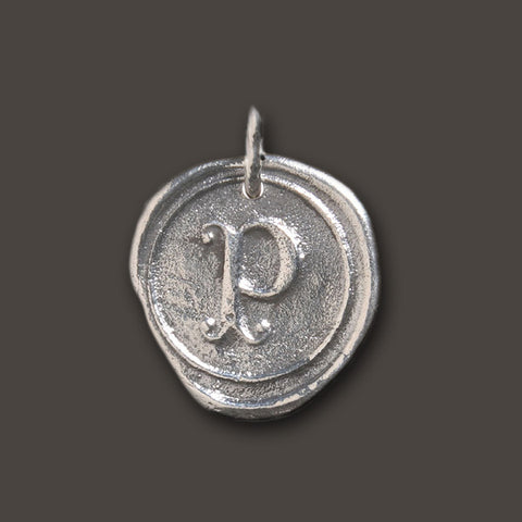 "Round Insignia Charm ""P"" by Waxing Poetic"