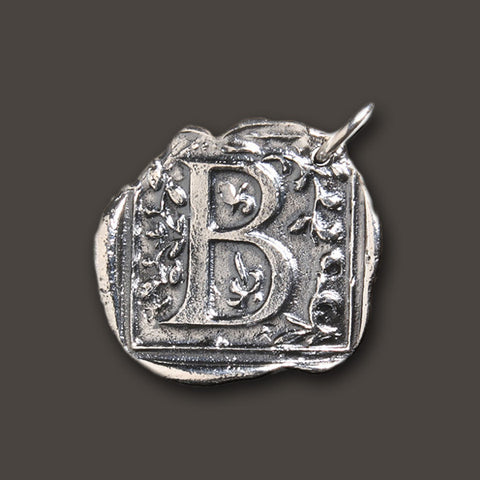 "Square Insignia Charm ""B"" by Waxing Poetic"