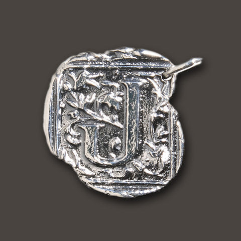 "Square Insignia Charm ""J"" by Waxing Poetic"