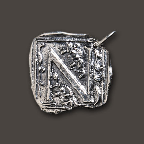 "Square Insignia Charm ""N"" by Waxing Poetic"