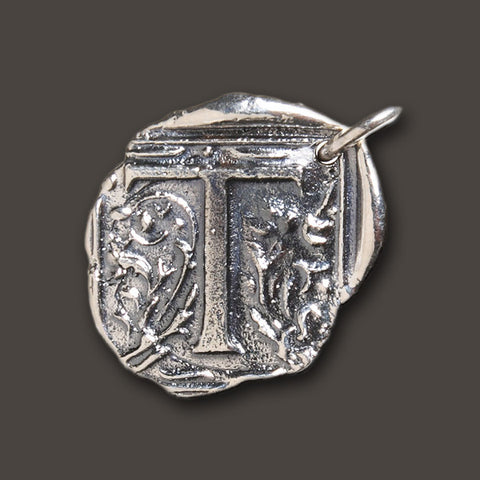 "Square Insignia Charm ""T"" by Waxing Poetic"