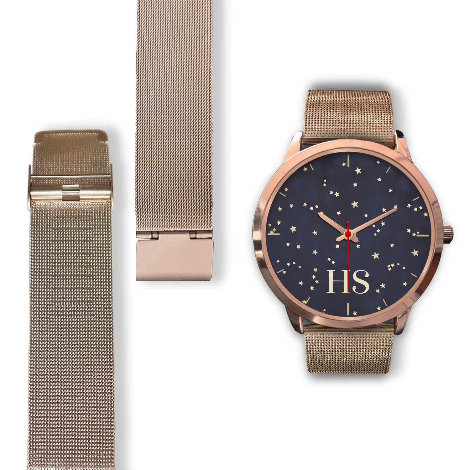 Customise It | Night Sky & Gold Stars | Unisex Watch