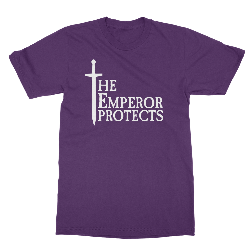 The Emperor Protects White Classic Heavy Cotton Adult T-Shirt
