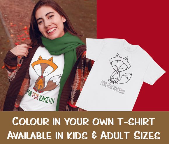 Unisex T-Shirt | For Fox Sake | DIY Textile Colouring T-Shirt