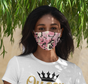 Facemask | Sublimation Print | Pink Camo| 7 Layers