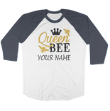 Customise It | Raglan Long Sleeve Shirt | Queen Bee