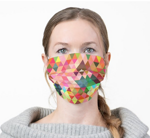 Facemask | Triangles | Sublimation Print | 7 Layers