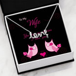Pendant Necklace | Love My Wife | Word