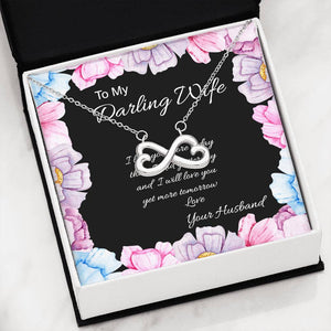 Necklace | Infinity Pendant | Darling Wife | Gift for Her
