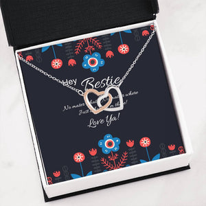 Necklace | Hey Bestie | interlocking Hearts Pendant