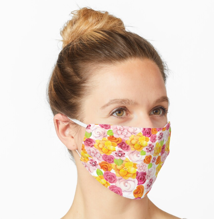 Facemask | Spring Floral | Sublimation Print | 7 Layers