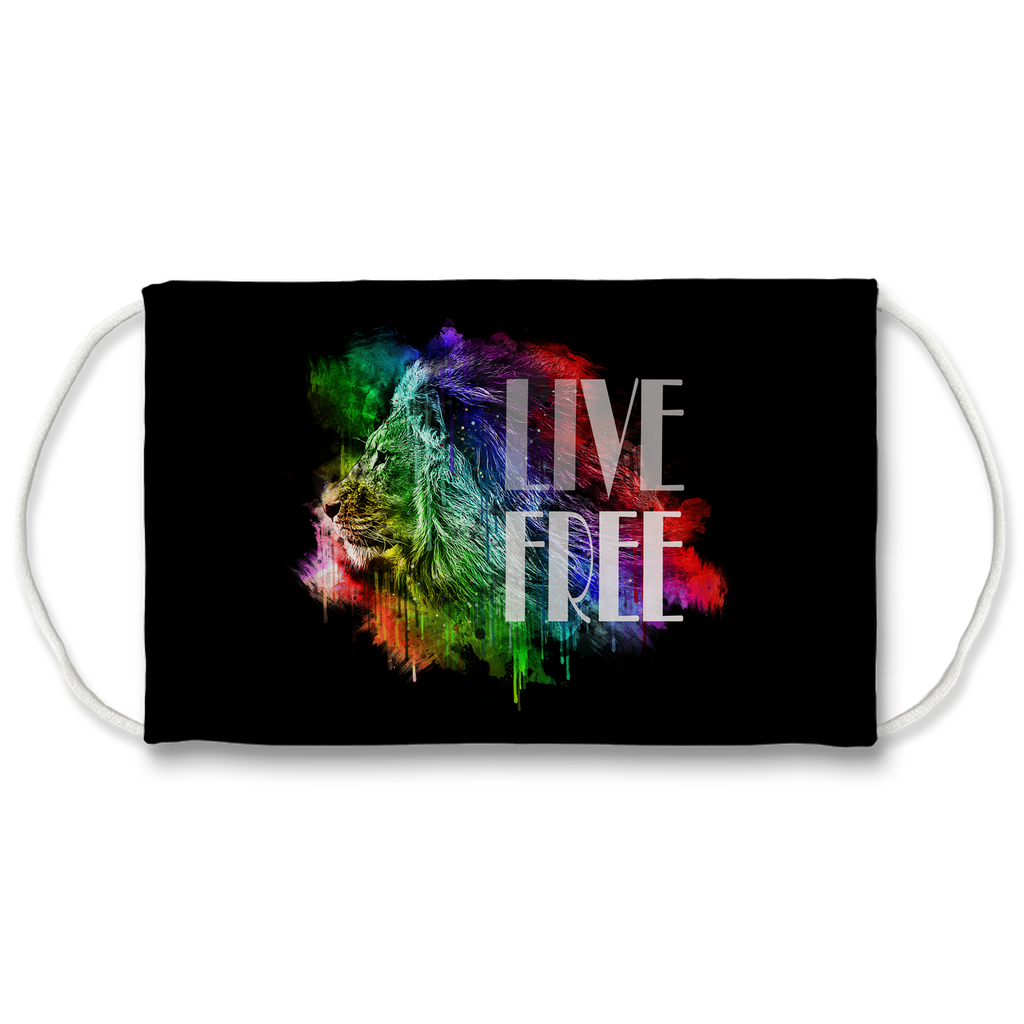 Face Mask Live Free Lion | Sublimation Print | 7 Layers