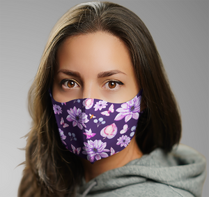 Facemask | Purple Kush | Sublimation Print | 7 Layers