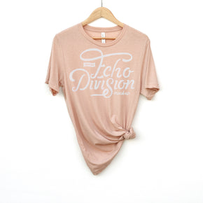 Hanging Shirt Mockup  - Bella + Canvas - Unisex Triblend Short Sleeve Tee - 3413 Peach Triblend - Apparel Photography #1391