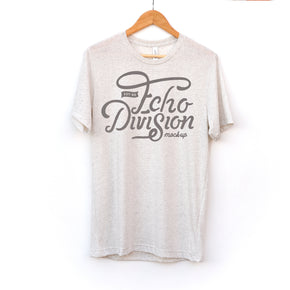 Hanging Shirt Mockup  - Bella + Canvas - Unisex Triblend Short Sleeve Tee - 3413 Oatmeal Triblend - Apparel Photography #1400