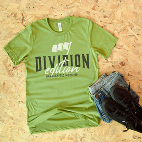 Shirt Mockup  - Bella Canvas 3001 T-Shirt -  Heather Green - Outfit Flat lay - Apparel Photography #0605