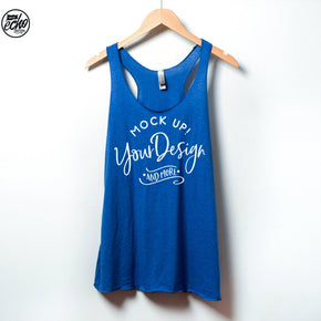 Tank top Mockup -Next Level - Women's Triblend Racerback Tank - 6733 -  Apparel photography #1292
