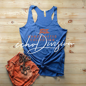 Tank top Mockup -Next Level - Women's Triblend Racerback Tank - 6733 Vintage Royal -  Apparel photography #1375