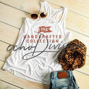 Tank Top Mockup -Bella + Canvas - Women's Flowy Racerback Tank - 8800 White - Apparel Photography #1230