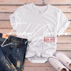 Shirt Mockup  - Bella Canvas 3001 T-Shirt -   White  - Outfit Flat lay - Apparel Photography #0579