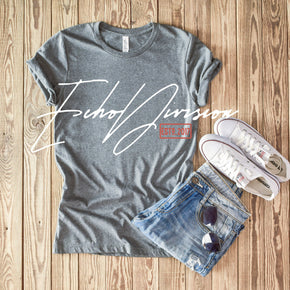 Shirt Mockup  - Bella Canvas 3001 T-Shirt  - Deep Heather - Outfit Flat lay - Apparel Photography #0658