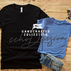 Couple Shirt Mockup -  Bella + Canvas - Unisex Short Sleeve Jersey Tee - 3001 Black -  3413T Blue Triblend #0257