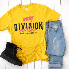 Shirt mockup - Bella + Canvas - 3001 Maize Yellow  mockup - flat lay - photography #0902