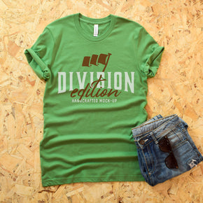 Shirt Mockup  - Bella Canvas 3001 T-Shirt -  Leaf  - Outfit Flat lay - Apparel Photography #0615
