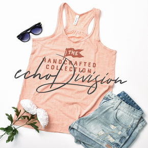 Tank Top Mockup -Bella + Canvas - Women's Flowy Racerback Tank - 8800 Peach Slub- Apparel Photography #1224