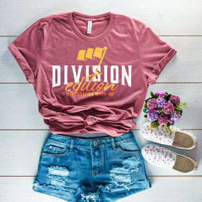 Shirt Mockup  - Bella Canvas 3001 T-Shirt - Heather Mauve  - Outfit Flat lay - Apparel Photography #0679