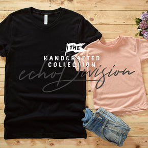 Couple Shirt Mockup - Bella + Canvas - Unisex Short Sleeve Jersey Tee - 3001 Black - 3413T Peach Triblend #0304