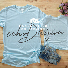 Couple Shirt Mockup - Bella + Canvas - Unisex Short Sleeve Jersey Tee - 3001 Heather Ice blue- 3413T Ice Blue Triblend #0305