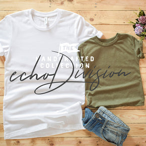 Couple Shirt Mockup - Bella + Canvas - Unisex Short Sleeve Jersey Tee - 3001 White - 3413T Olive Triblend #0312