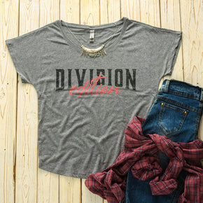 Shirt Mockup  -   Next Level - Women's Triblend Dolman Tee - 6760 Premium Heather  - Outfit Flat lay - Apparel Photography #0502