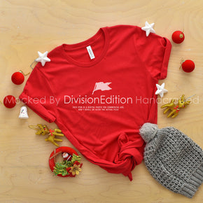 Christmas Mockup  - Bella Canvas Shirt - Red - Outfit Flat lay - Apparel Photography166