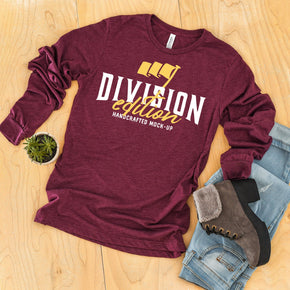 Shirt Mockup  - Bella + Canvas - Long Sleeve Jersey Tee - 3501 -  Maroon Triblend - Outfit Flat lay - Apparel Photography #0542