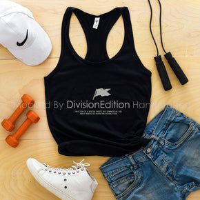 workout Mockup -Next Level - Women Ideal Racerback Tank Mock-up - 1533  Black - Outfit Flat lay - Apparel Photography1 #1383