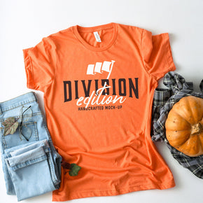 Shirt mockup - Bella + Canvas - 3001 Heather Orange mockup - flat lay - photography #0896
