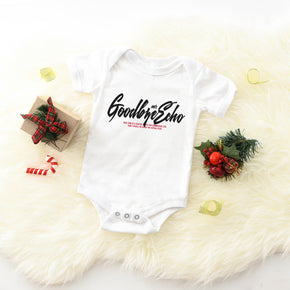 Christmas Mockup - Bella + Canvas - Baby Short Sleeve Onesie - 100B T-Shirt Mockup - Apparel Photography - Flat lay
