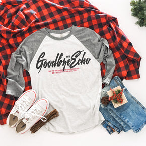 Christmas Mockup - Next Level - Unisex  Baseball Raglan Tee - 6051 - Outfit Flat lay - Apparel Photography 1