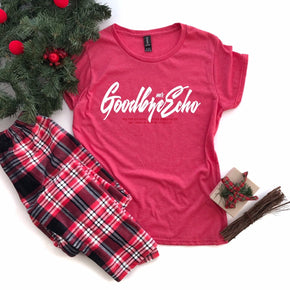 Christmas Mockup - Anvil 880 Heather Red - flat lay - photography