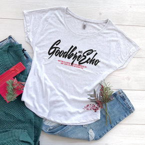 Christmas Mockup -Shirt Mockup - Next Level - Women's Triblend Dolman Tee - 6760 White Heather - Outfit Flat lay - Apparel Photography