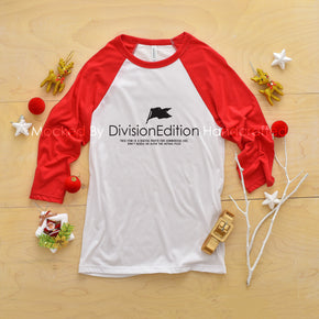 Shirt mockup - Bella + Canvas 3200 - Raglan mockup - flat lay - photography #0910